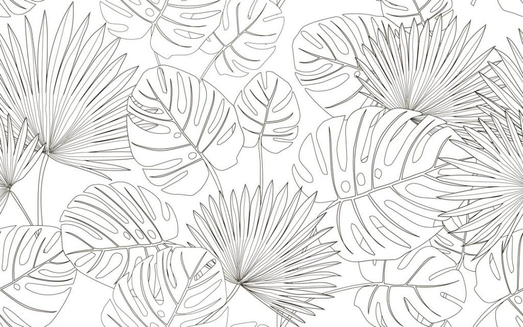 Фотообои Векторные тропические листья