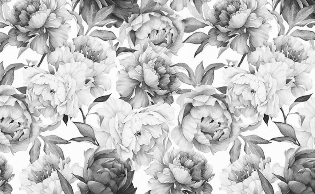 Фотообои Черно белые цветы