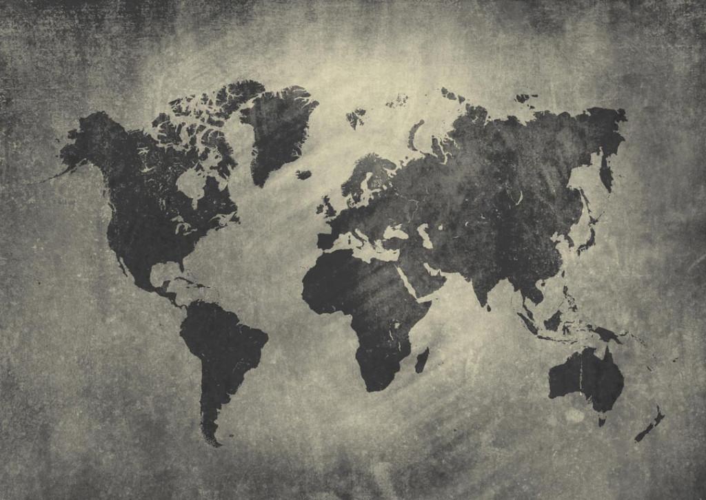 Фотообои Карта мира на фоне