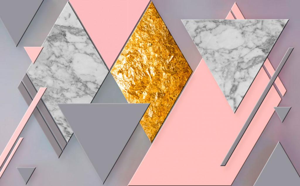 Фотообои Геометрия, ромбы с золотом