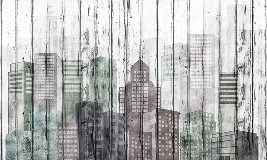 Фотообои Акварельный город