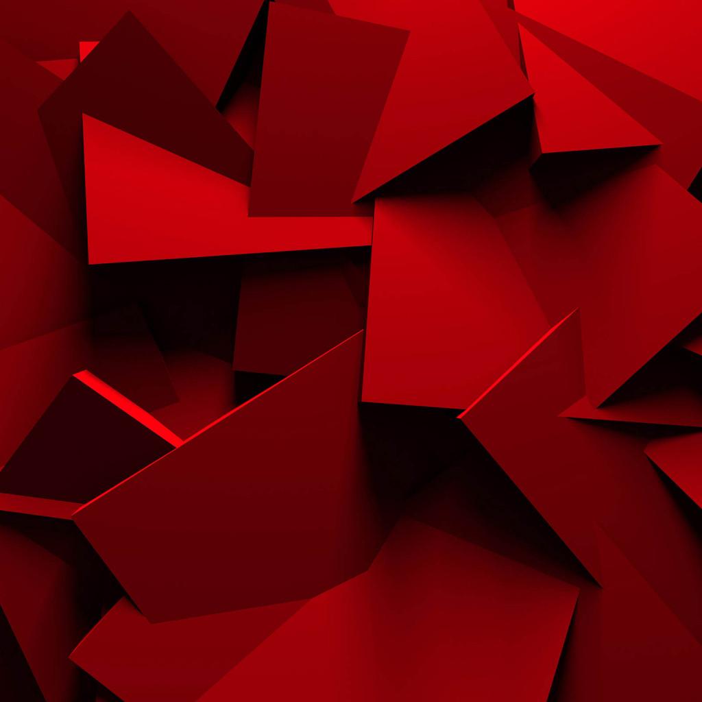 Фотообои красные фигуры
