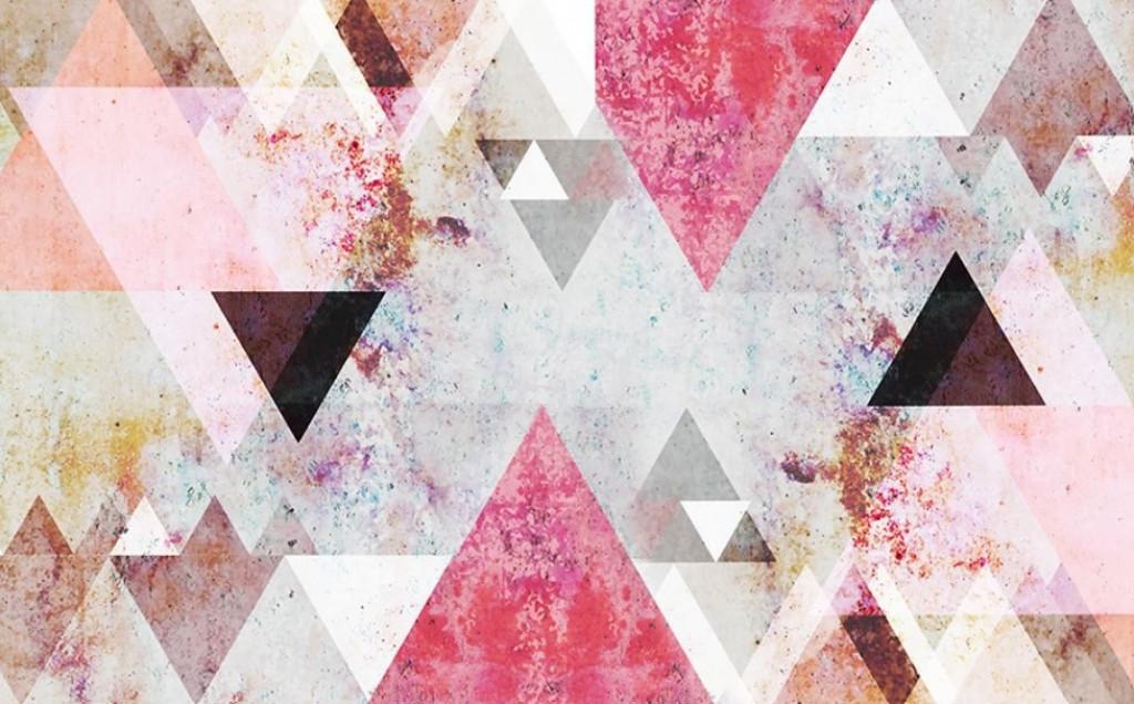 Фотообои Геометрия розовые треугольники