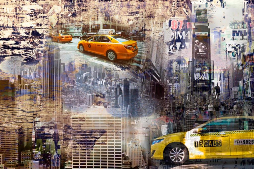 Фотообои Такси в мегаполисе