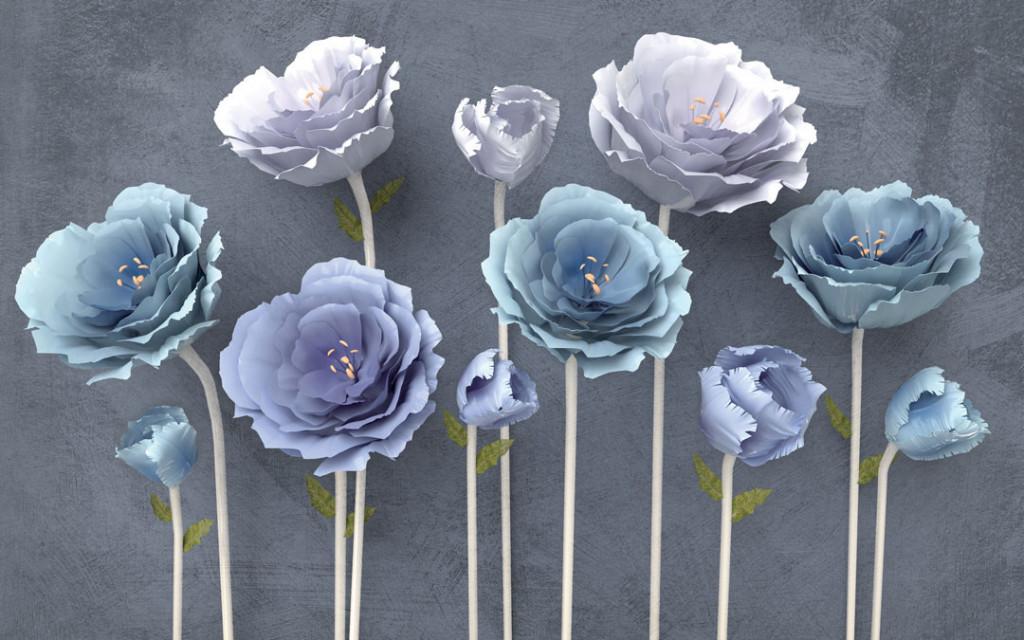 Фотообои Красивые цветы 3д