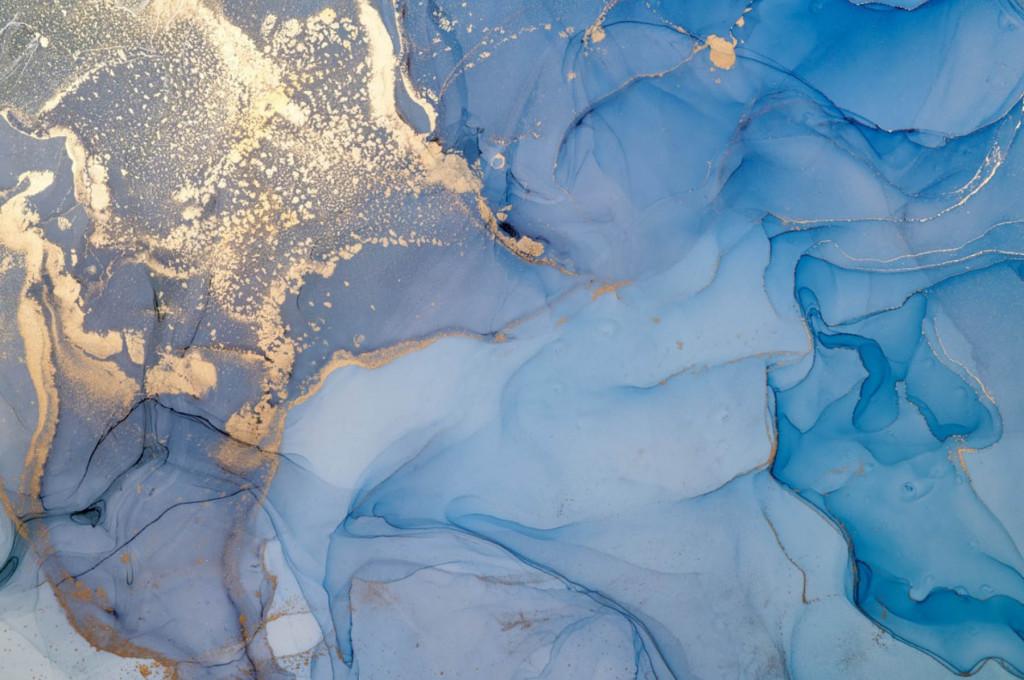 Фотообои голубой флюид