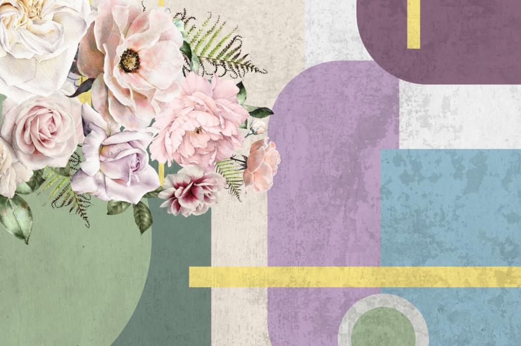 Фотообои Мемфис  с цветами