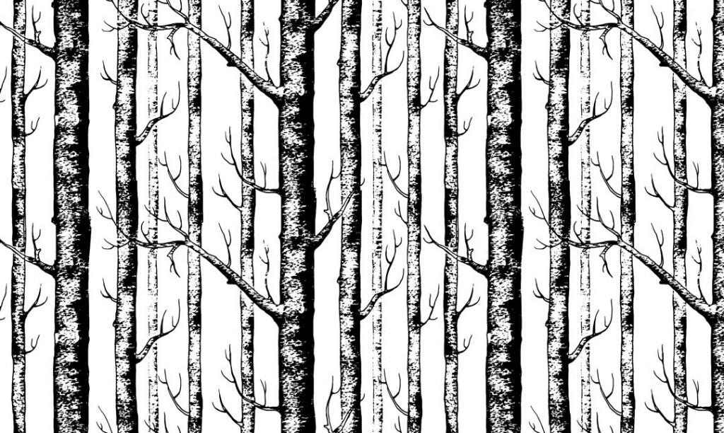 Фотообои Деревья в скандинавском стиле