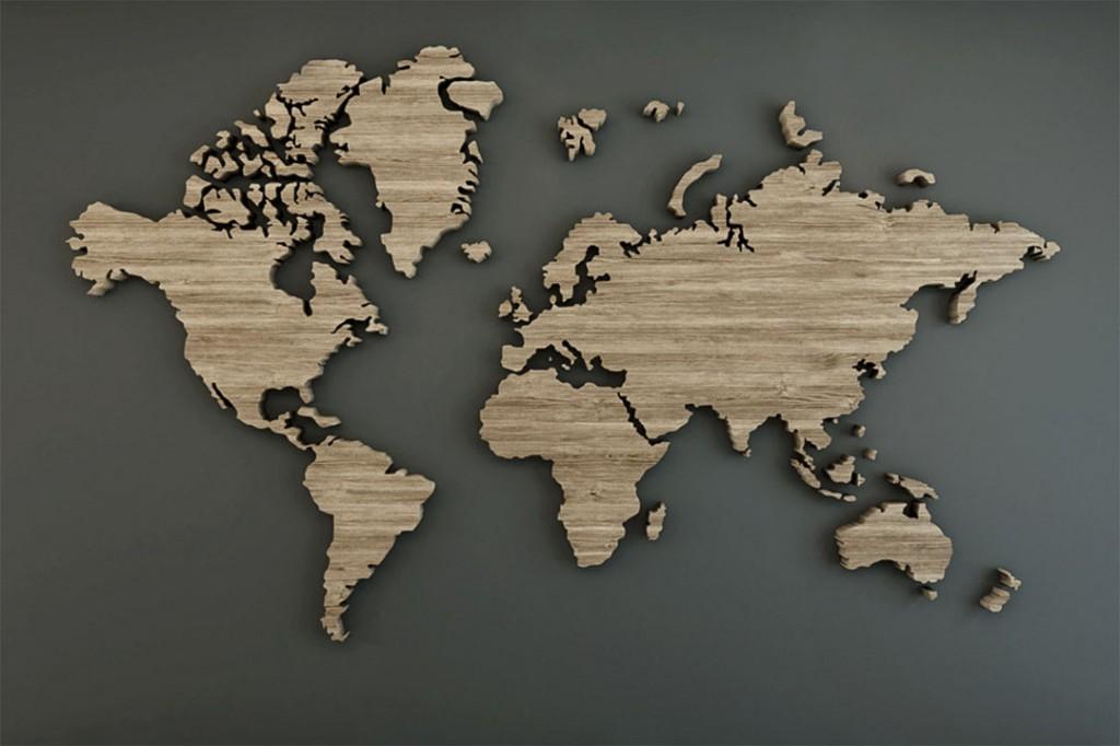 Фотообои Карта мира в прованс стиле