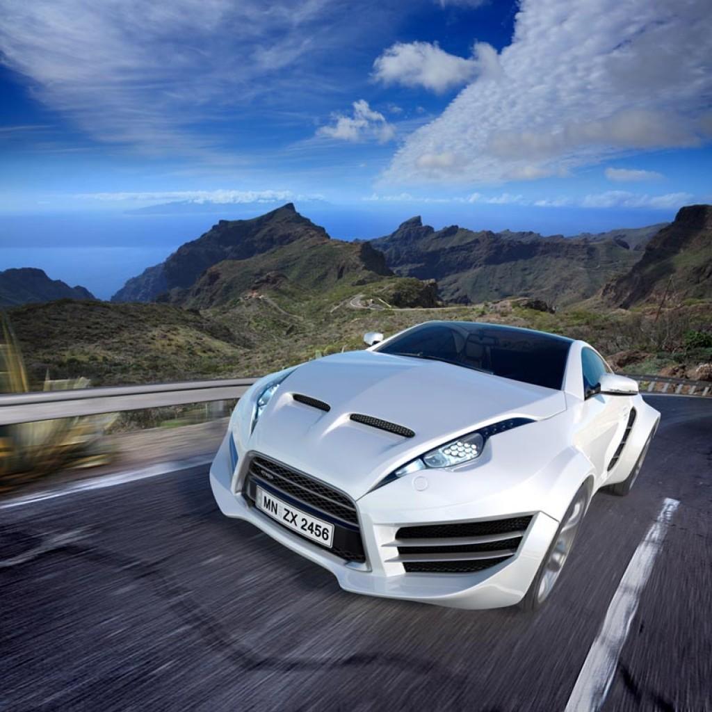 Фотообои Белая машина