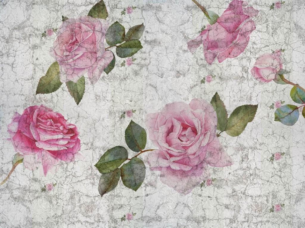Фотообои Паттерн цветов, розовые розы