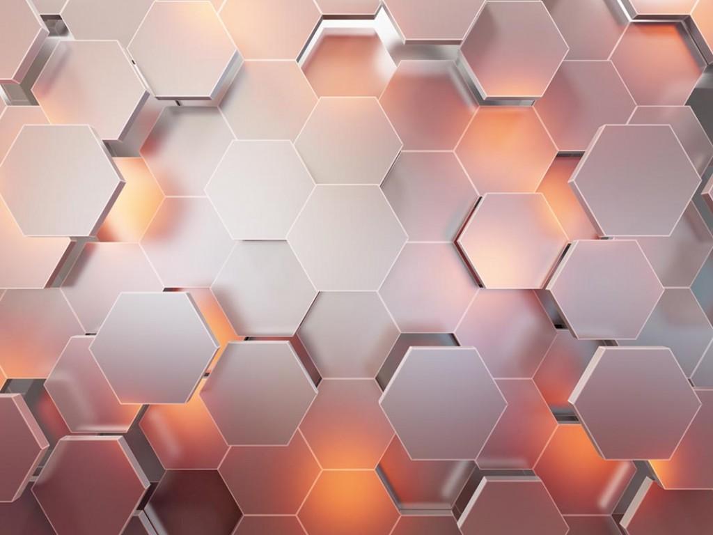 Фотообои 3d стена из шестиугольников