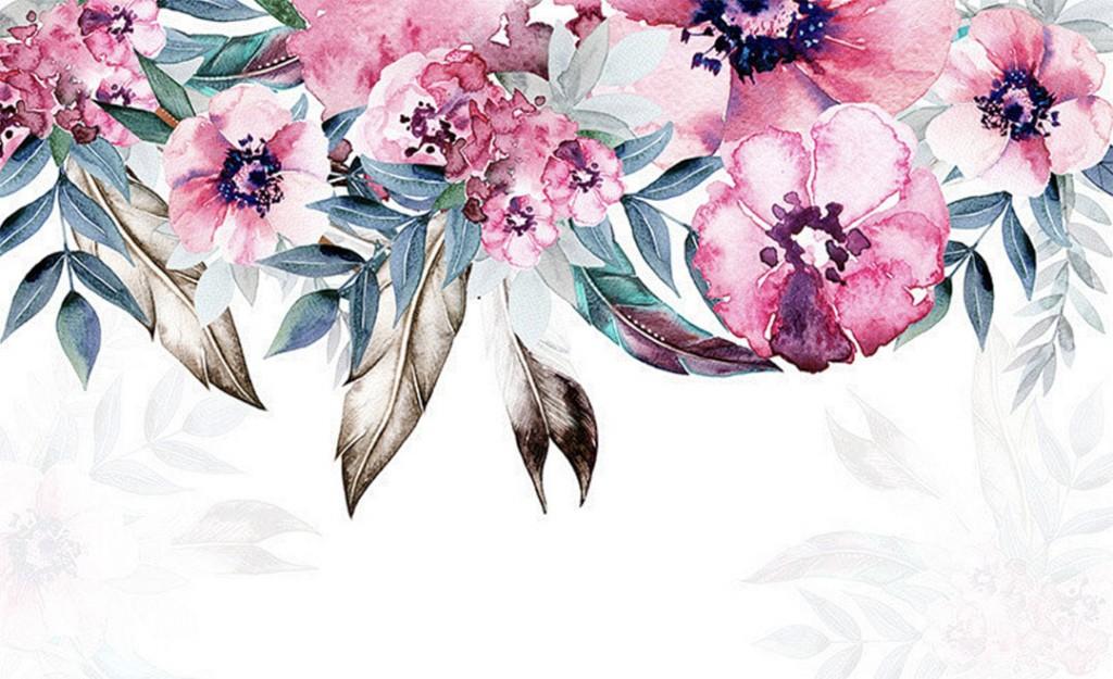 Фотообои Красивые цветы с потолка