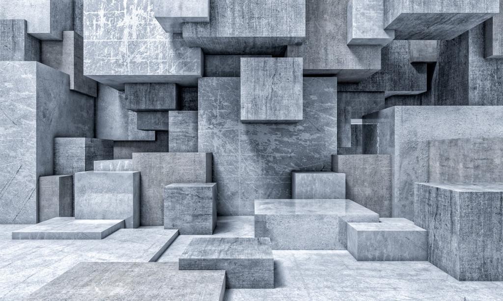 Фотообои Серые кубы
