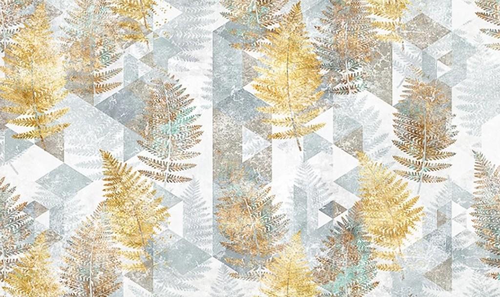 Фотообои Дизайнерские тропические листья