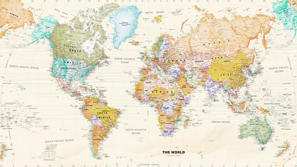 Фотообои Жёлтая карта