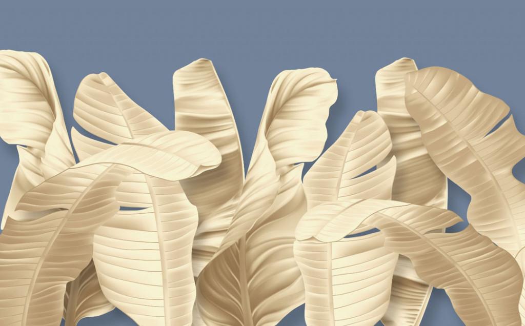 Фотообои Золотые банановые листья