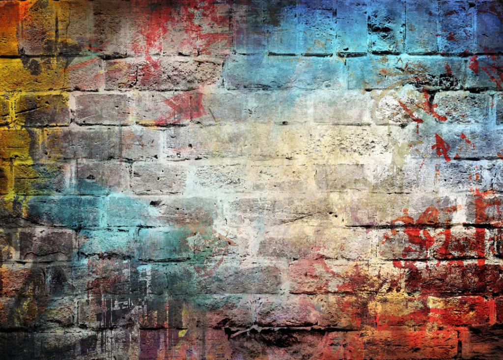 Фотообои Цветная кирпичная стена