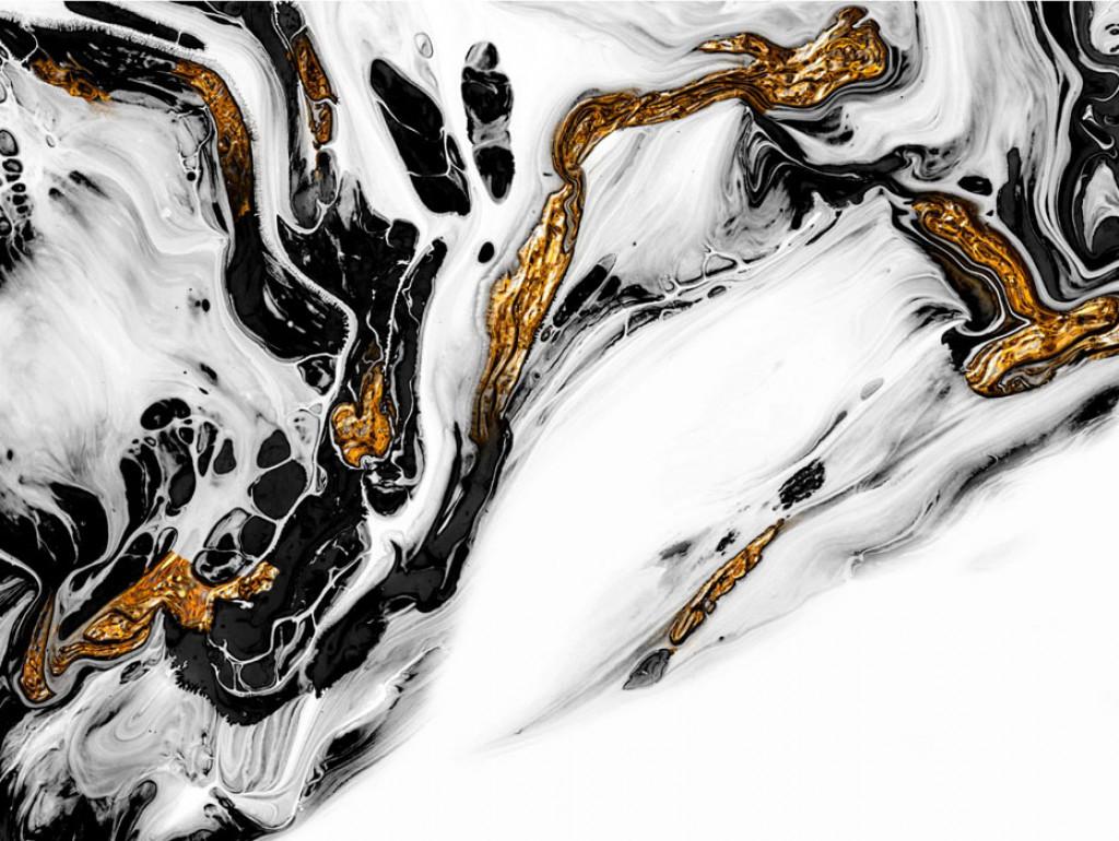 Фотообои Мрамор с золотом