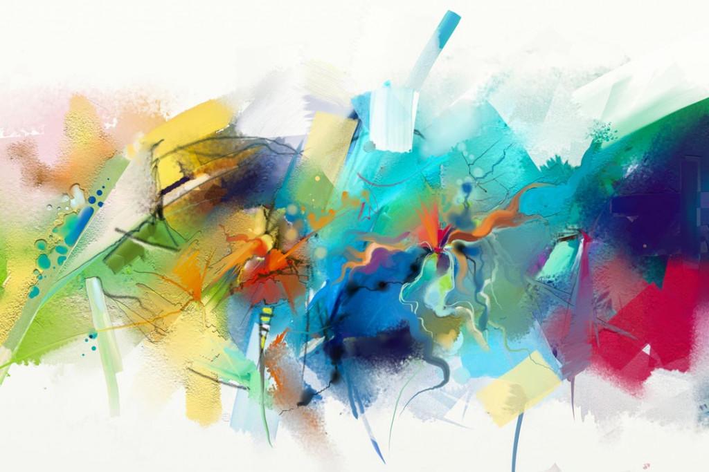 Фотообои Разноцветные мазки