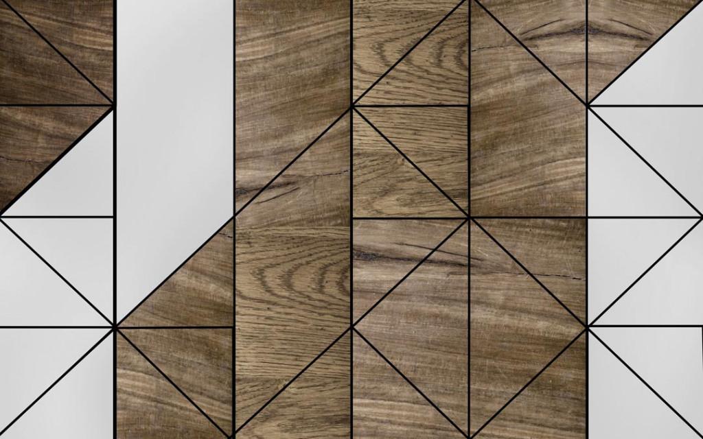 Фотообои Геометрия, текстура дерева
