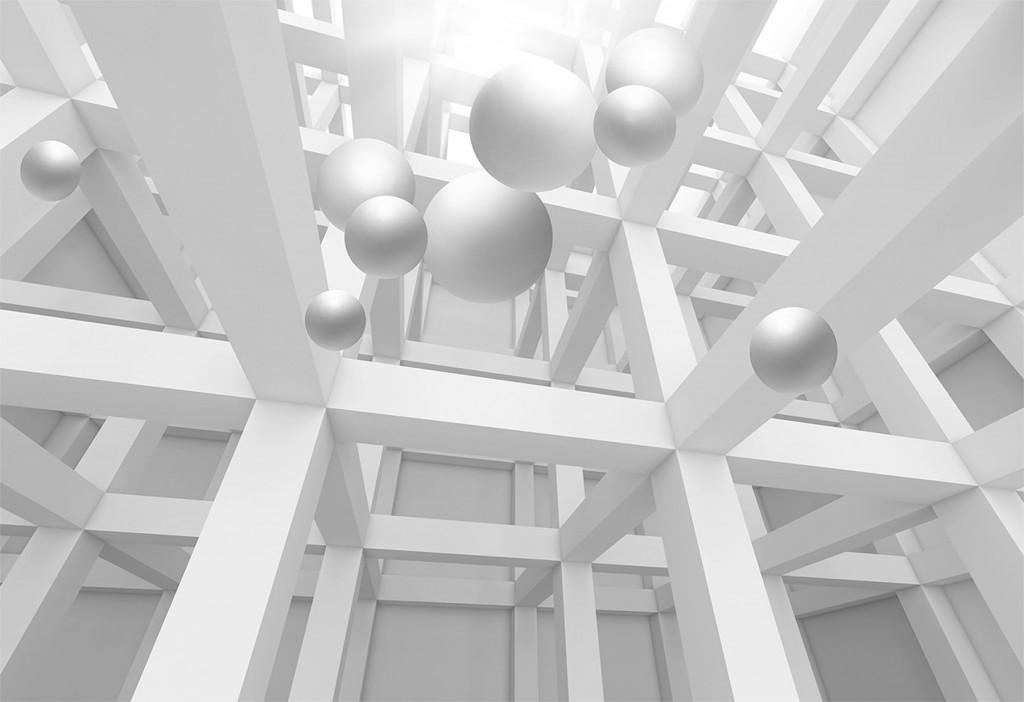 Фотообои колоны и шары