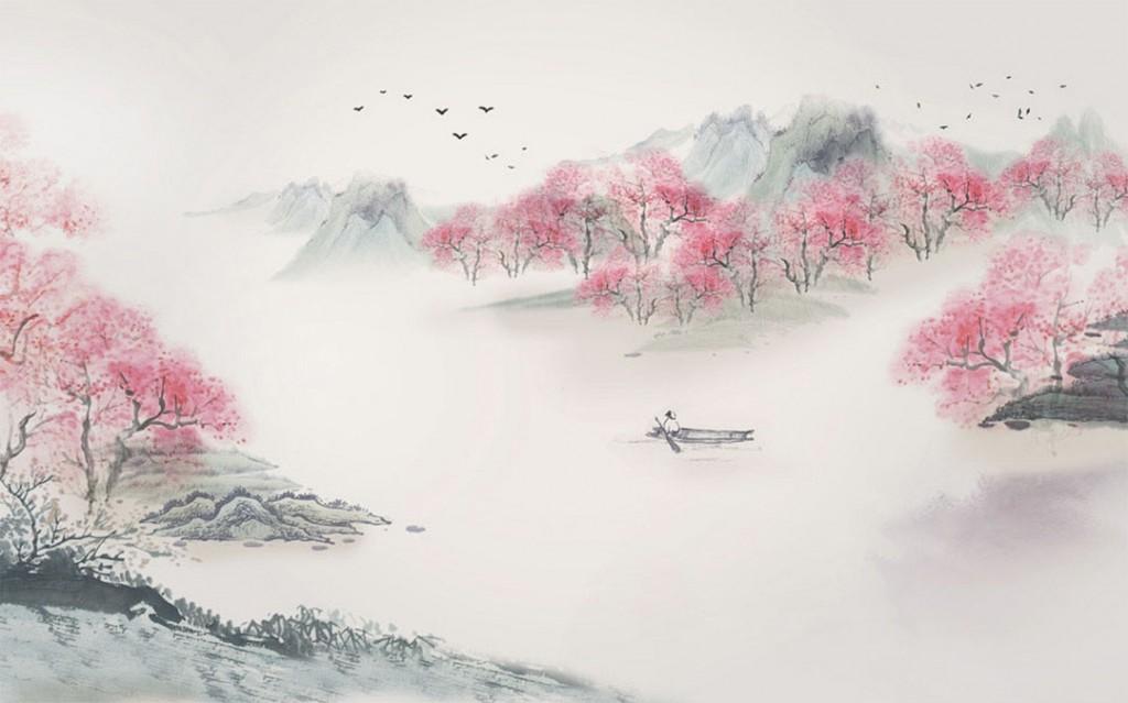 Фотообои Цветущие сакуры