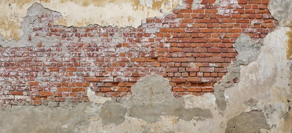 Фотообои Кирпичная стена с штукатуркой