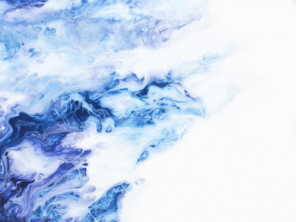 Фотообои Fluid art синий с голубым