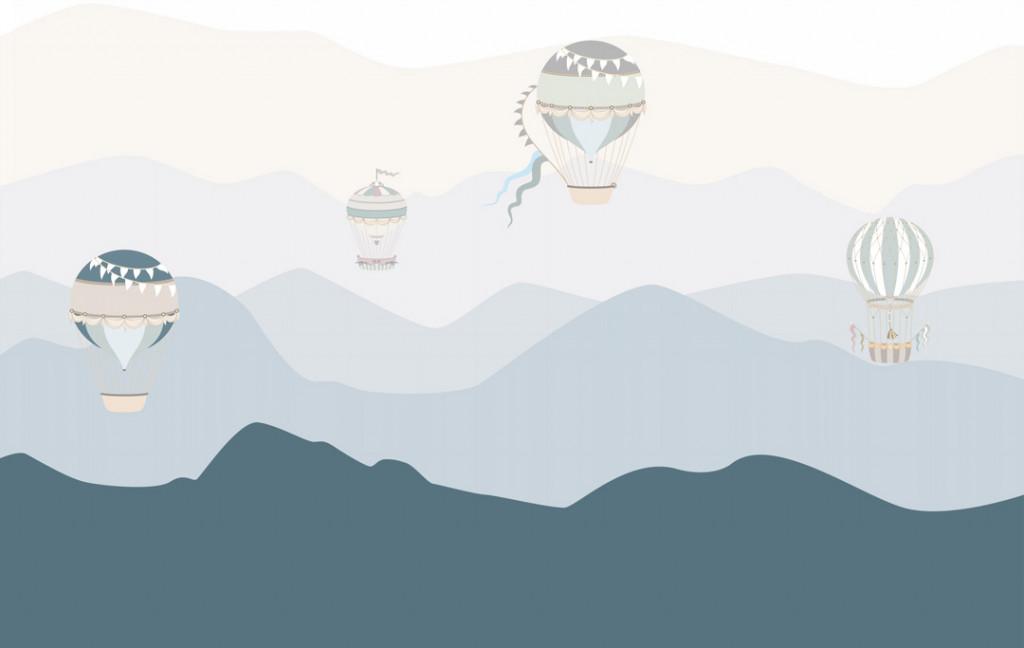 Фотообои Воздушные шары, горы