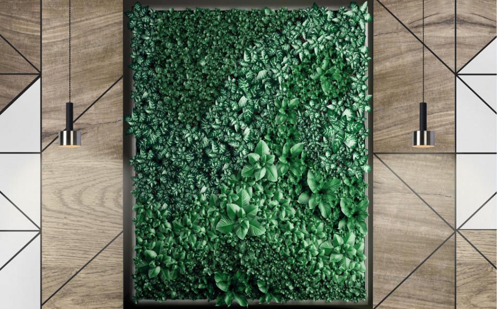 Фотообои Иммитация зеленой стенки
