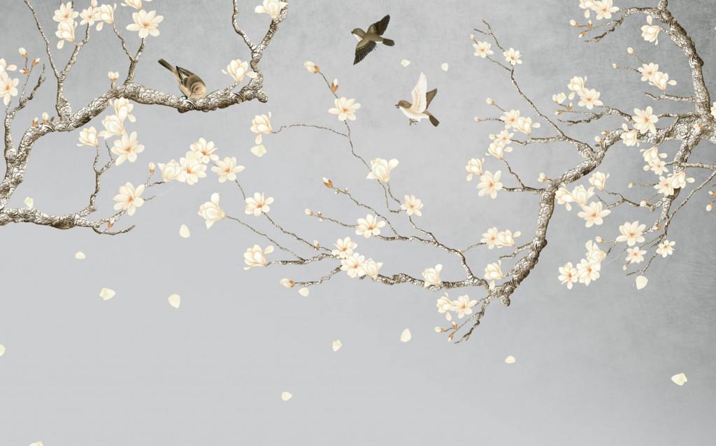 Фотообои цветущие ветви