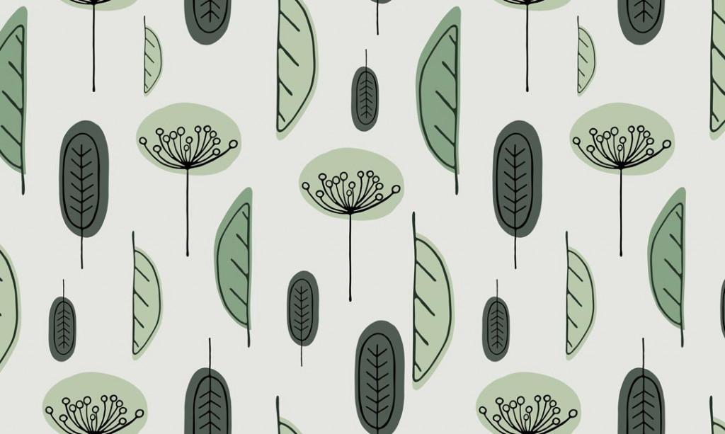 Фотообои Листья в скандинавском стиле