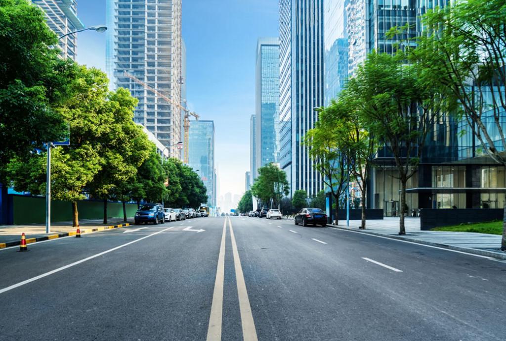 Фотообои Улица в городе