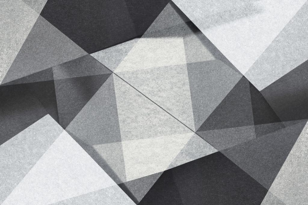 Фотообои Геометрия черно белые треугольники