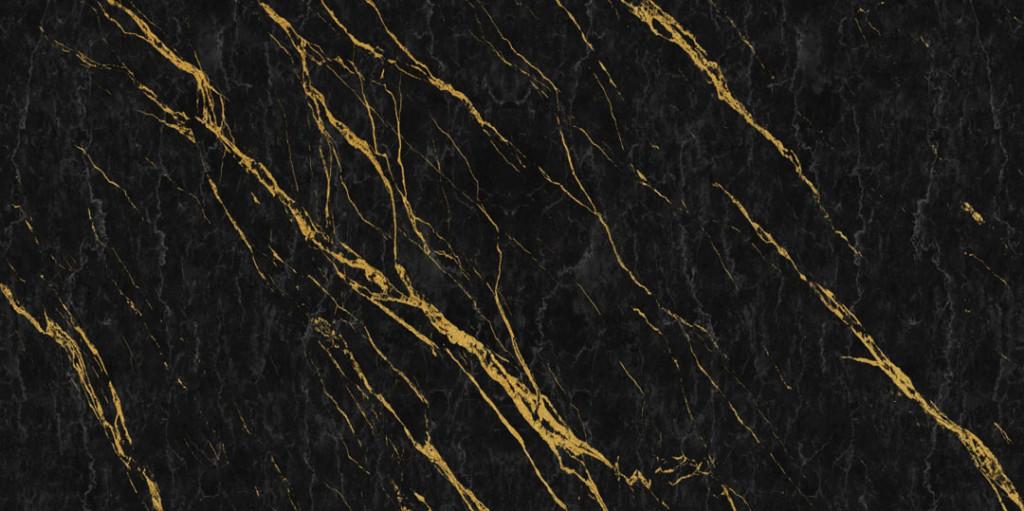 Фотообои Чёрный мрамор с золотом