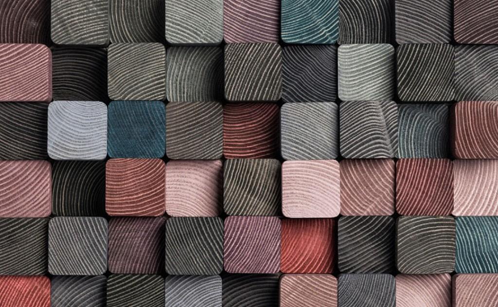 Фотообои Цветной деревянный брус