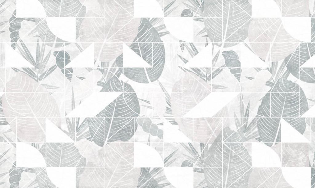 Фотообои листья и геометрия