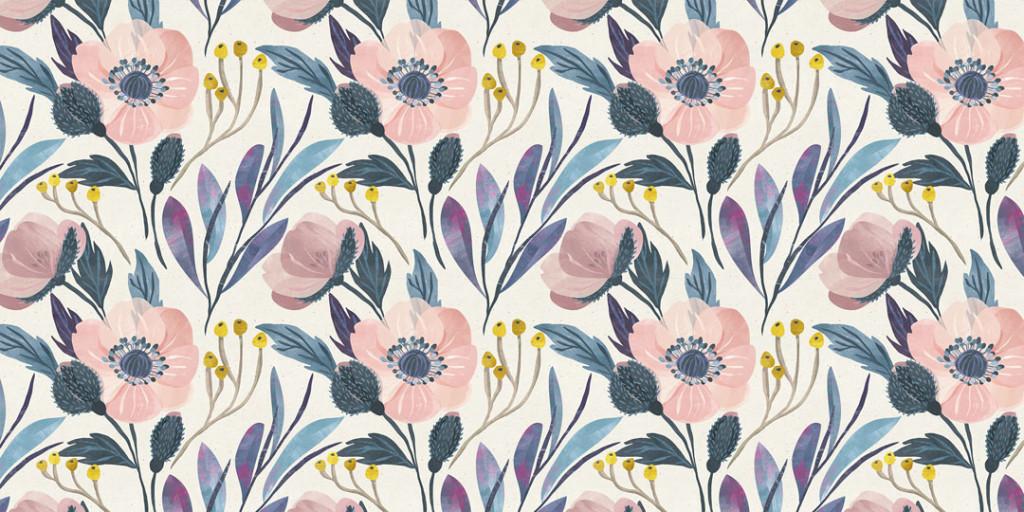 Фотообои Цветы в скандинавском стиле