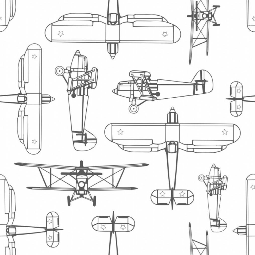 Фотообои Векторные самолеты