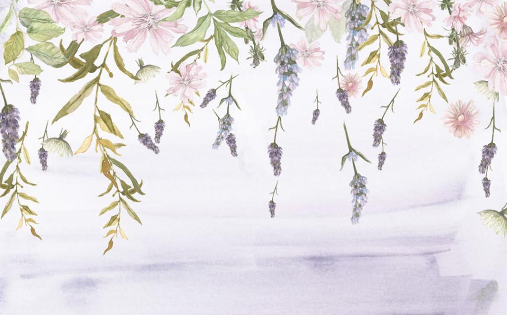 Фотообои Цветы с потолка