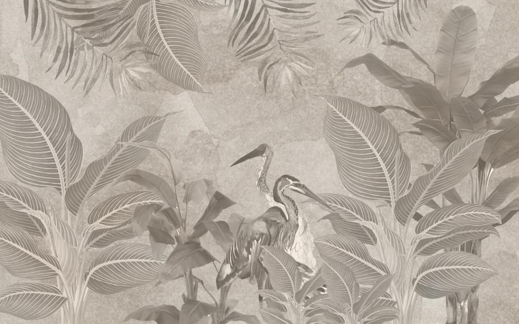 Фотообои Фреска тропических листьев