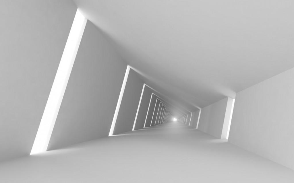 Фотообои Тоннель серый расширяющий