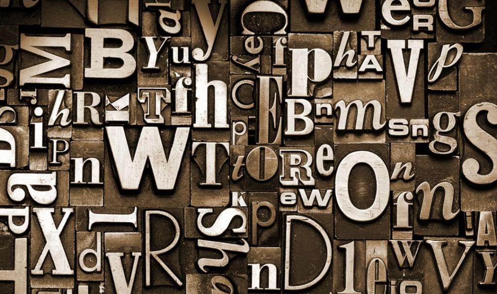 Фотообои Обьемные буквы