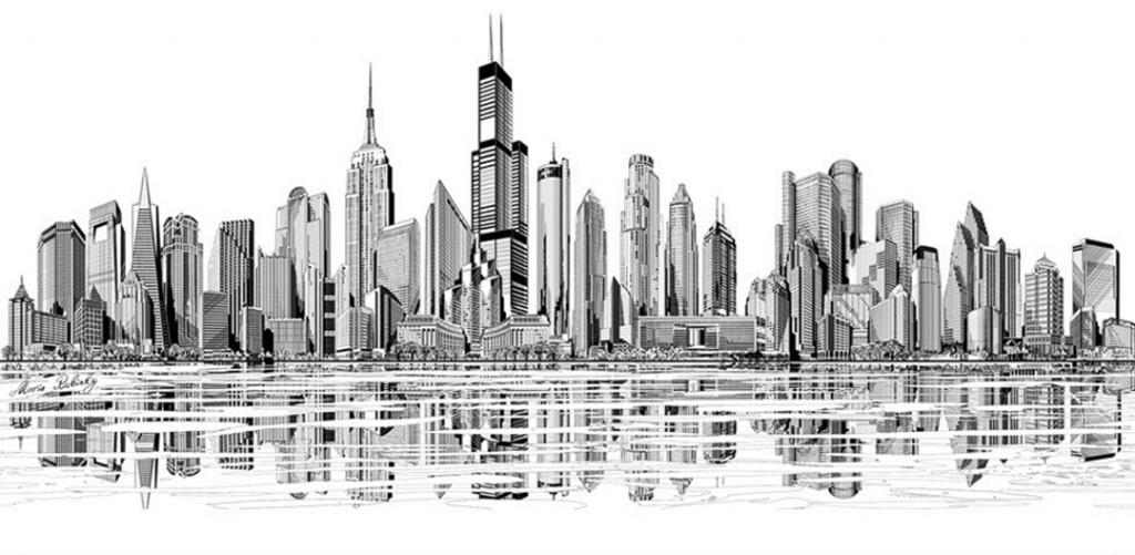 Фотообои Черты города