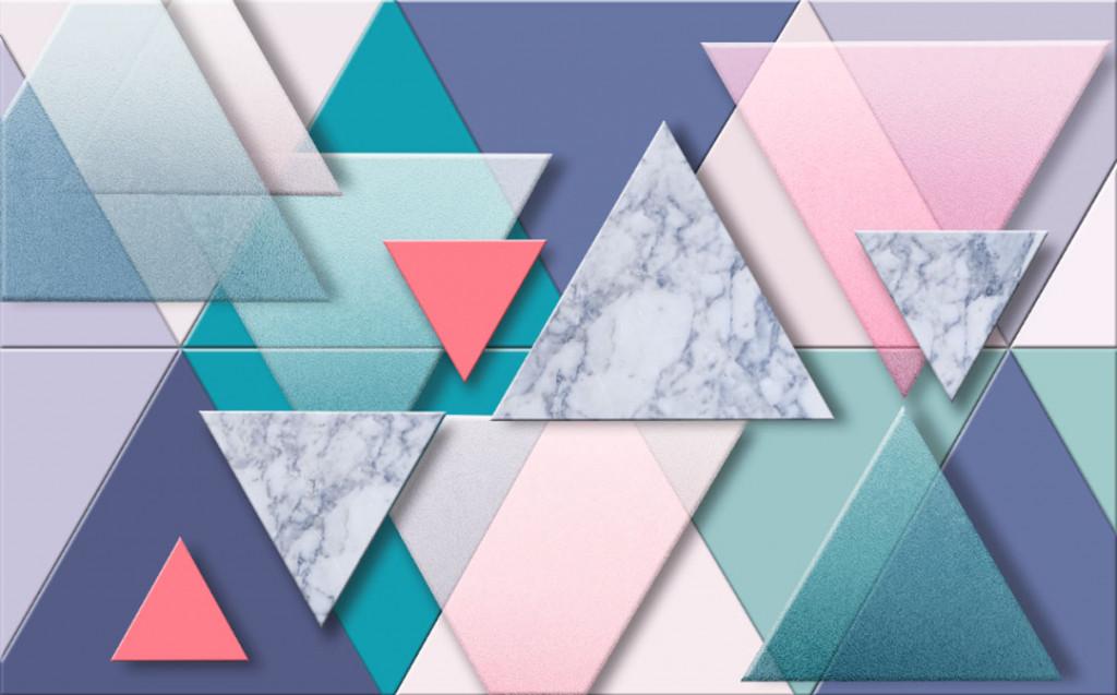 Фотообои Геометрия, цветные треугольники