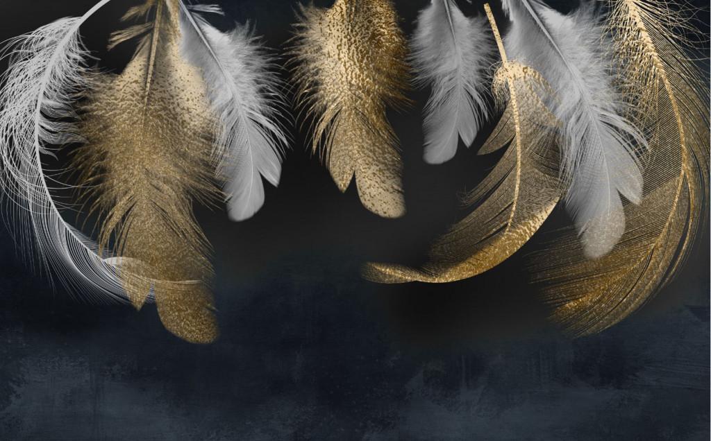 Фотообои золотые перья
