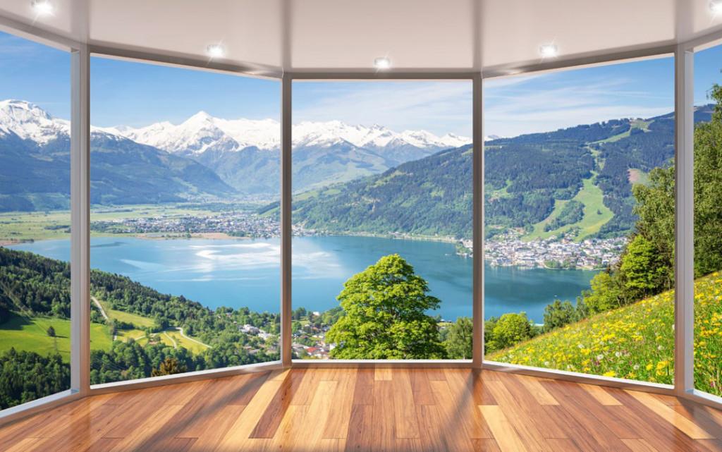 Фотообои Вид из окна на природу