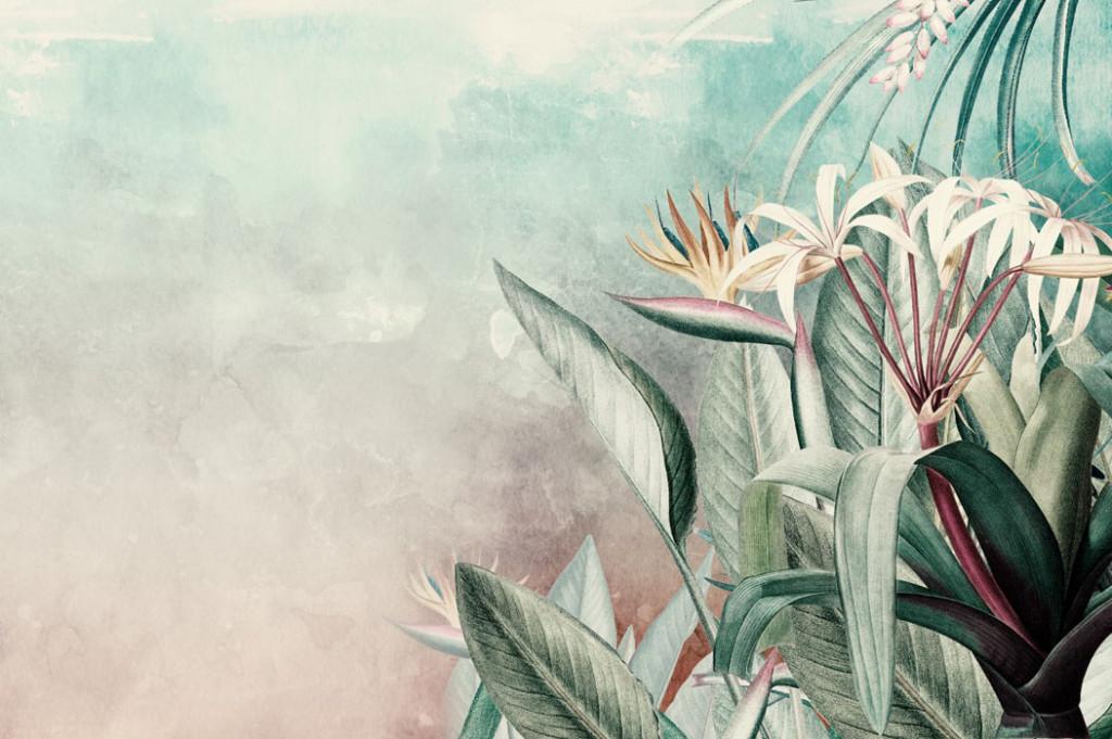 Фотообои Тропические листья ассорти
