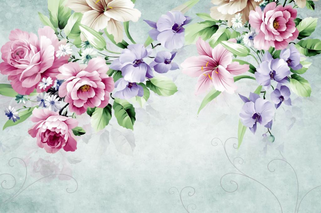 Фотообои Цветочное ассорти